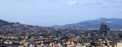 Panorama Barcelona. punkt zwrotny, Hiszpania. Zdjęcia Stock