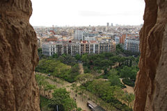 Panorama of Barcelona Stock Photo