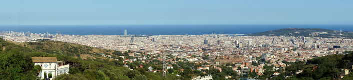 Panorama of Barcelona, Spain Stock Image