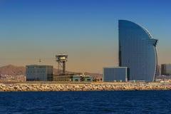 Panorama of Barcelona. The Panorama of Barcelona, Spain royalty free stock photos