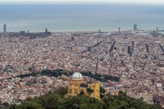 Panorama of Barcelona, Spain. Royalty Free Stock Image