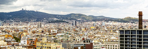 Panorama of Barcelona Stock Image
