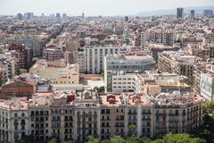 Panorama of Barcelona Royalty Free Stock Photo
