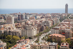 Panorama of Barcelona Stock Photography