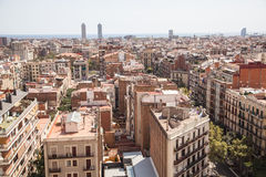 Panorama of Barcelona Royalty Free Stock Photography