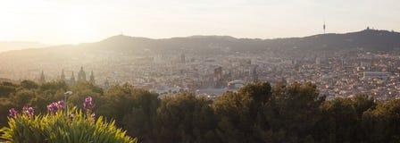 Panorama of Barcelona Royalty Free Stock Photos