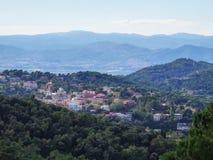 Panorama of Barcelona from Tibidabo, Catalonia, Spain. royalty free stock photography