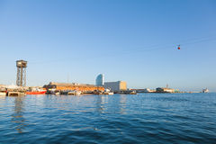 Panorama of Barcelona vista port Royalty Free Stock Images