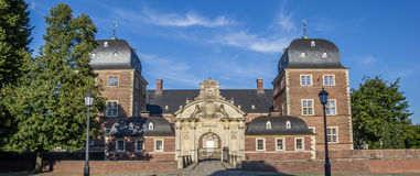 Panorama of the baroque castle in Ahaus. Germany Royalty Free Stock Photos