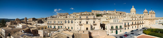 Panorama of the baroque city of Noto Royalty Free Stock Photography