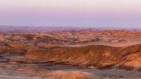 Panorama on barren valleys and canyons, known as `moon landscape`, Namib desert, Namib Naukluft National Park, travel destination. In Namibia, Africa stock video