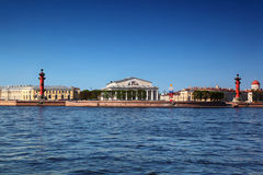 Panorama of Basil Island in St Petersburg Royalty Free Stock Photo