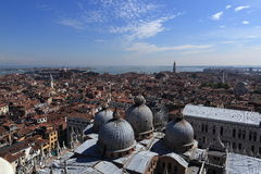 Panorama, Basilica di S. Marco, Palazzo Ducate, Old Buildings, Venice, Venezia, Italy Royalty Free Stock Photography