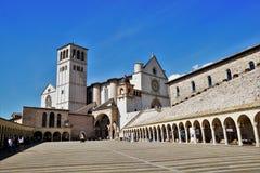 Panorama of the Basilica of Saint Francis stock photos