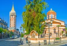 Panorama of Batumi street Royalty Free Stock Photography