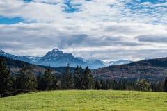 Panorama of the Bavarian Alps Stock Photo
