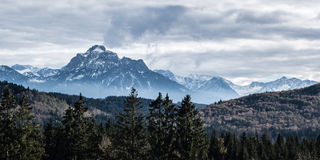 Panorama of the Bavarian Alps Royalty Free Stock Photography