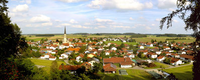 Panorama of Bavarian town Stock Photography