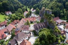 Panorama Bawarski miasteczko zdjęcie stock