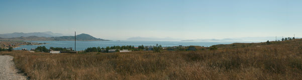 Panorama of the bay. Around view panorama of bay. It is photographed from the high hill Royalty Free Stock Images