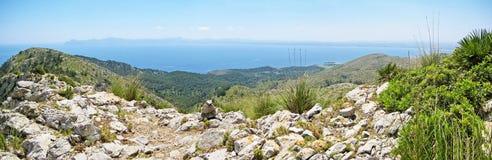Panorama bay of Alcudia, Majorca, Spain Stock Photography