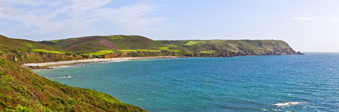 Panorama of Bay on atlantic coast Royalty Free Stock Image