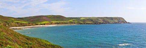 Panorama of Bay on atlantic coast Royalty Free Stock Image
