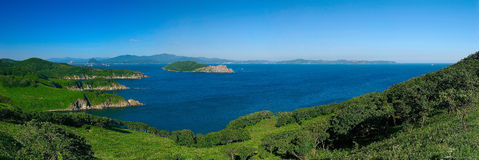 Panorama of bay Nakhodka. Stock Images