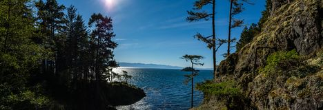 Panorama of a bay in the Pacific North West stock photos