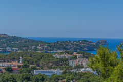 Panorama of the Bay Paguera. Photographed from the mountain in Costa de la Calma stock images