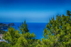 Panorama of the Bay Paguera. Photographed from the mountain in Costa de la Calma stock photos