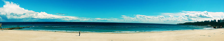 Panorama of a beach Royalty Free Stock Photography