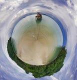 Panorama of the beach Stock Photo