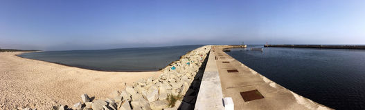 Panorama of a beach of the Baltic Sea Royalty Free Stock Images