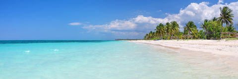 Panorama of the beach of Cayo Levisa island Cuba Stock Photos