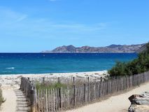Panorama beach Corsica royalty free stock photography