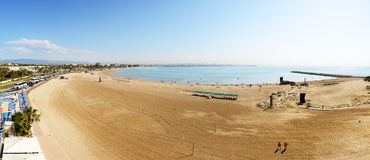 Panorama of the beach Royalty Free Stock Images