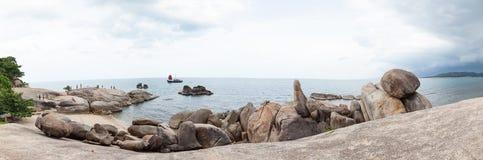 Panorama beach Grandfather Rock Stock Image