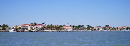 Panorama of beach house in tampa bay Stock Images