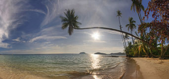 Panorama of beach of Koh Mak Royalty Free Stock Photo
