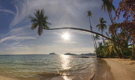 Panorama of beach of Koh Mak Stock Photo