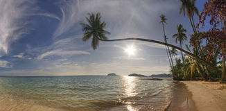 Panorama of beach of Koh Mak Stock Image
