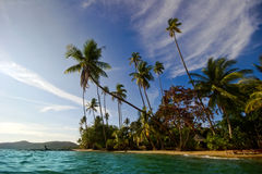 Panorama of beach of Koh Mak Stock Photography