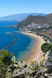 Panorama of beach Las Teresitas, Tenerife, Canary Islands, Spain Royalty Free Stock Image