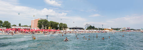 Panorama beach on Mamaia Stock Photos
