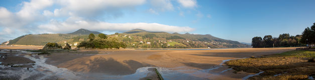 Panorama of the beach in Mundaka Stock Image