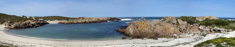 Panorama of a beach near Cape Columbine Stock Image