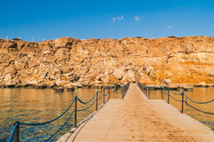 Panorama of the beach at reef Royalty Free Stock Image
