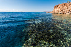 Panorama of the beach at reef Royalty Free Stock Photography