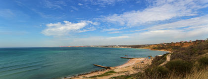 Panorama of the beach Royalty Free Stock Photos